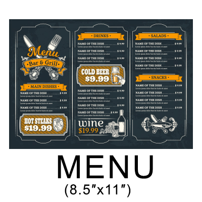 Atlanta Takeout Menu Printing